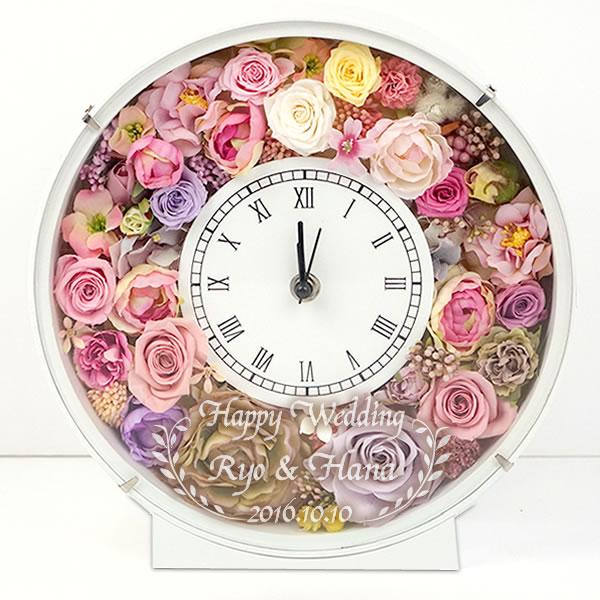 プリザーブドフラワー 花時計