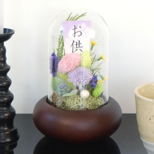 和風プリザーブドフラワー仏花 微花(かすか)