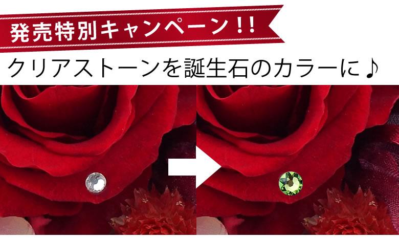 今だけ!発売特別キャンペーン開催♪クリアストーンを誕生石のカラーに♪